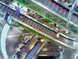 Escalator, escalators, at Złote Tarasy Shopping Mall, Warsaw, Poland / Liukuportaat