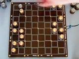 Nixie tube chess board setup