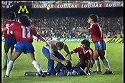 Goleiro Rojas atingido por Sinalizador 1989 Brasil x Chile