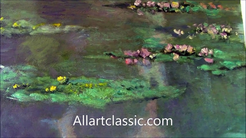 Claude Monet Painting Water Lily