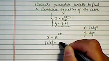 ^*Parametric Equation: convert to Cartesian equation if x=e^(2t); y=t+1