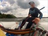 Europe dinghy + big gust +bad technique= capsize