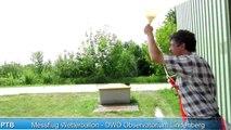 Aufstieg Wetterballon (DL0PTB) 07.07.2011 - DWD Lindenberg