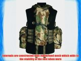 Tactical Combat South African Assault Vest Adjustable Airsoft Woodland Camo