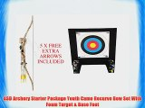 ASD Archery Starter Package Youth Camo Recurve Bow Set With Foam Target