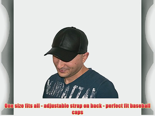 Baseball Cap 100% Geunie Leather Lambskin Baseball Cap (Dark Brown) Mens Cap   With Free Protective