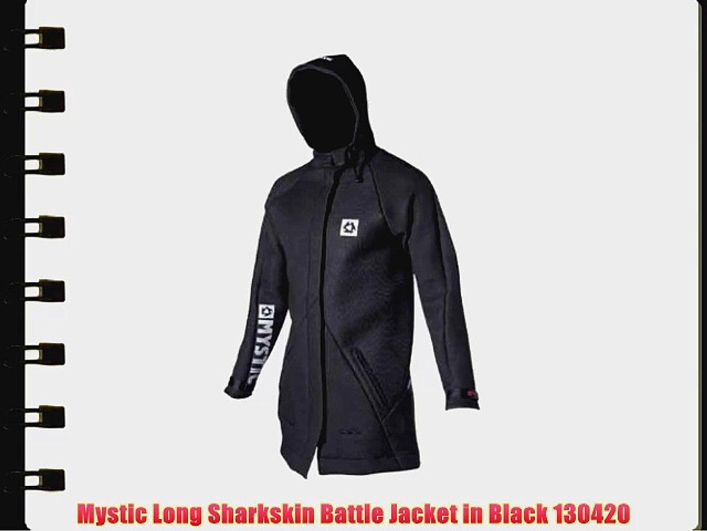 9e839398a70 Mystic Long Sharkskin Battle Jacket in Black 130420
