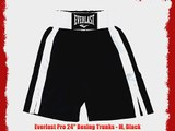 Everlast Pro 24 Boxing Trunks - M Black