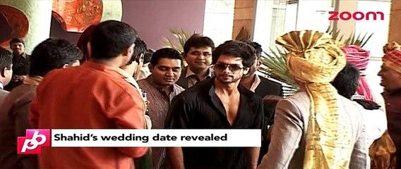 Shahid Kapoor's wedding date revealed - Bollywood News