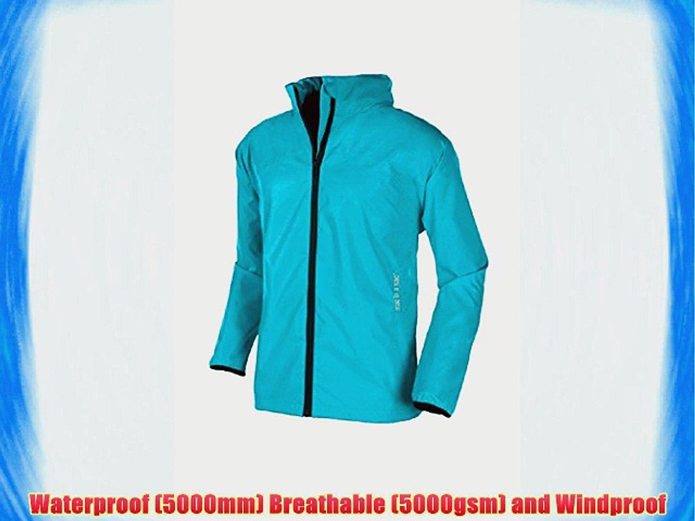 Trespass Compac Mac Womens Waterproof Raincoat in Green Black /& White