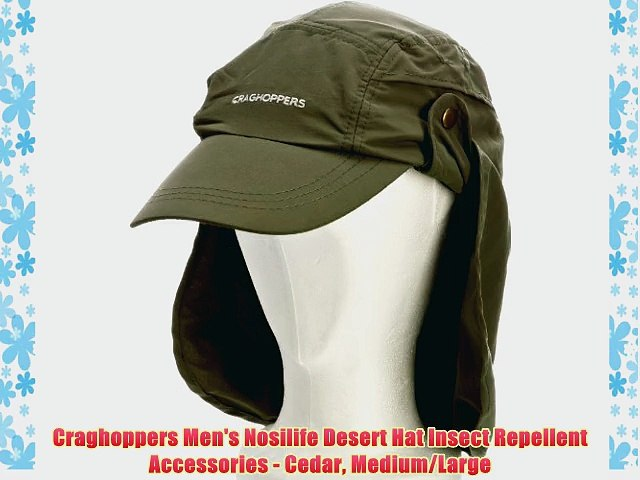 8d844e8c Craghoppers Men's Nosilife Desert Hat Insect Repellent Accessories - Cedar  Medium/Large - video dailymotion
