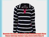 Mountain Warehouse Nessy Stripe Womens Snuggly Warm Fleece Cold days Outdoor Long sleeve Active