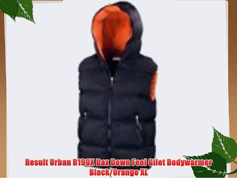 R190X Result Urban Outdoor Wear Mens Black Waterproof Dax Down Feel Gilet