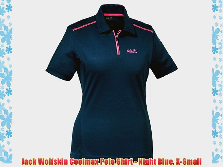 1cad26c9d Jack Wolfskin Coolmax Polo Shirt - Night Blue X-Small