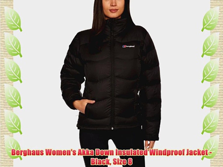 Berghaus Women's Akka Down Insulated Windproof Jacket Black Size 8