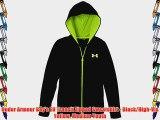 Under Armour Boy's EU Transit Zipped Sweatshirt - Black/High-Vis Yellow Medium Youth