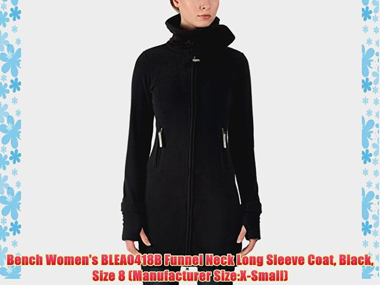 Magnificent Bench Womens Blea0418B Funnel Neck Long Sleeve Coat Black Size 8 Manufacturer Size X Small Ibusinesslaw Wood Chair Design Ideas Ibusinesslaworg