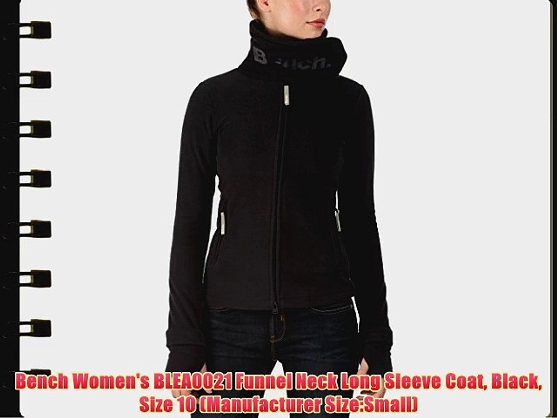 Sensational Bench Womens Blea0021 Funnel Neck Long Sleeve Coat Black Ibusinesslaw Wood Chair Design Ideas Ibusinesslaworg