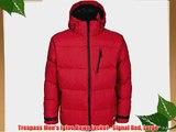 Trespass Men's Igloo Down Jacket - Signal Red Large