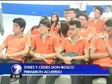Alumnos de Cedes Don Bosco podrán hacer práctica profesional en Sykes