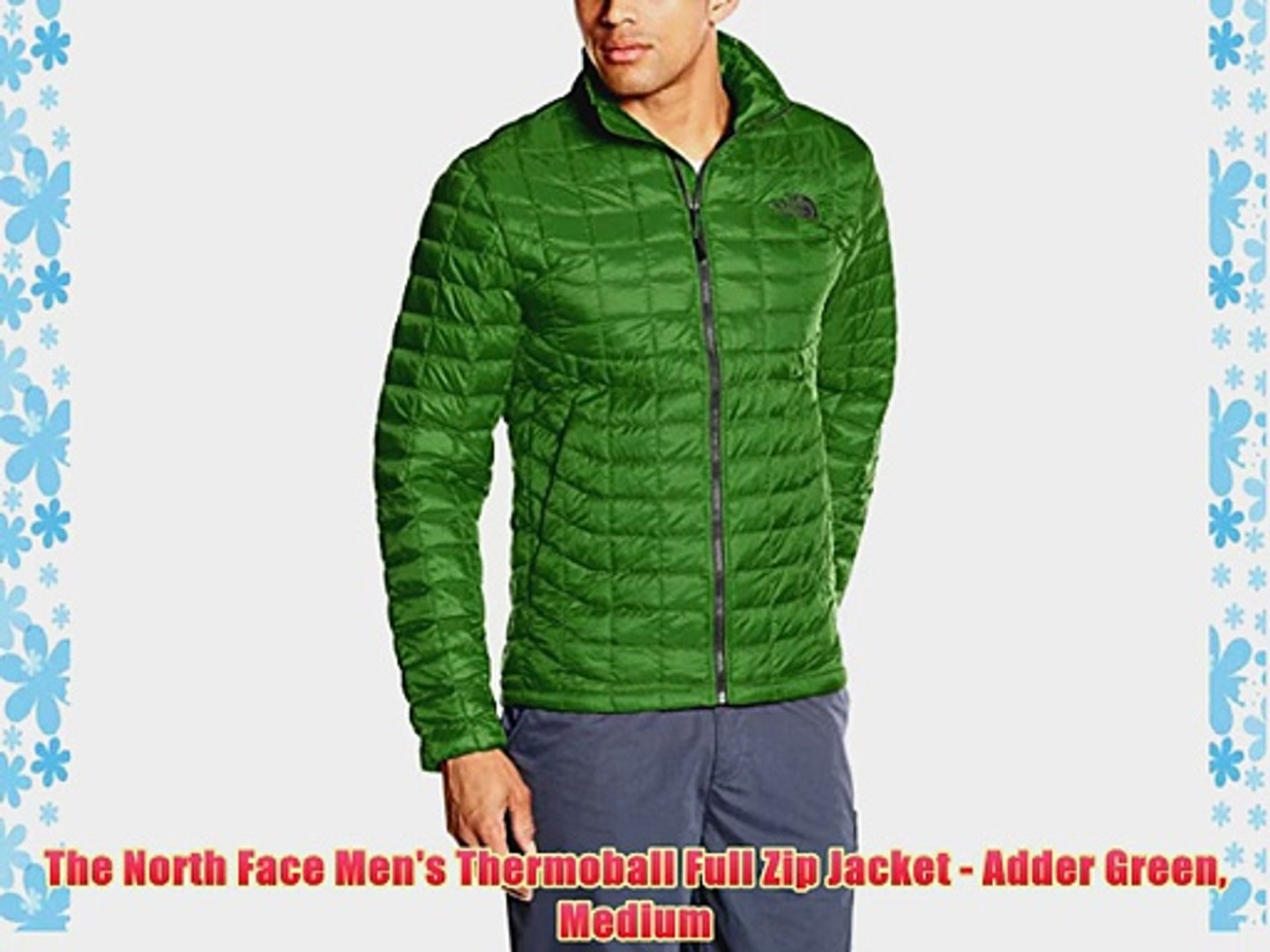 The North Face Men's Thermoball Full Zip Jacket Adder Green Medium