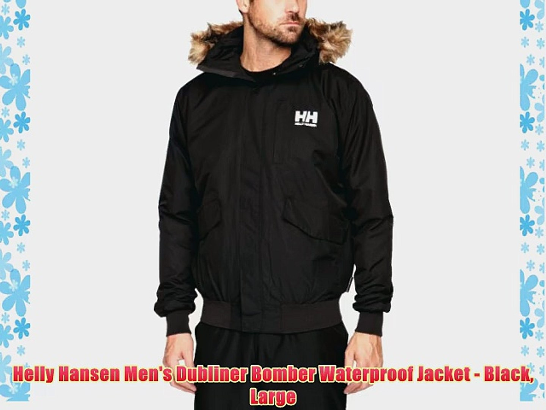 auténtica venta caliente mejores ofertas en que buen look Helly Hansen Men's Dubliner Bomber Waterproof Jacket - Black Large