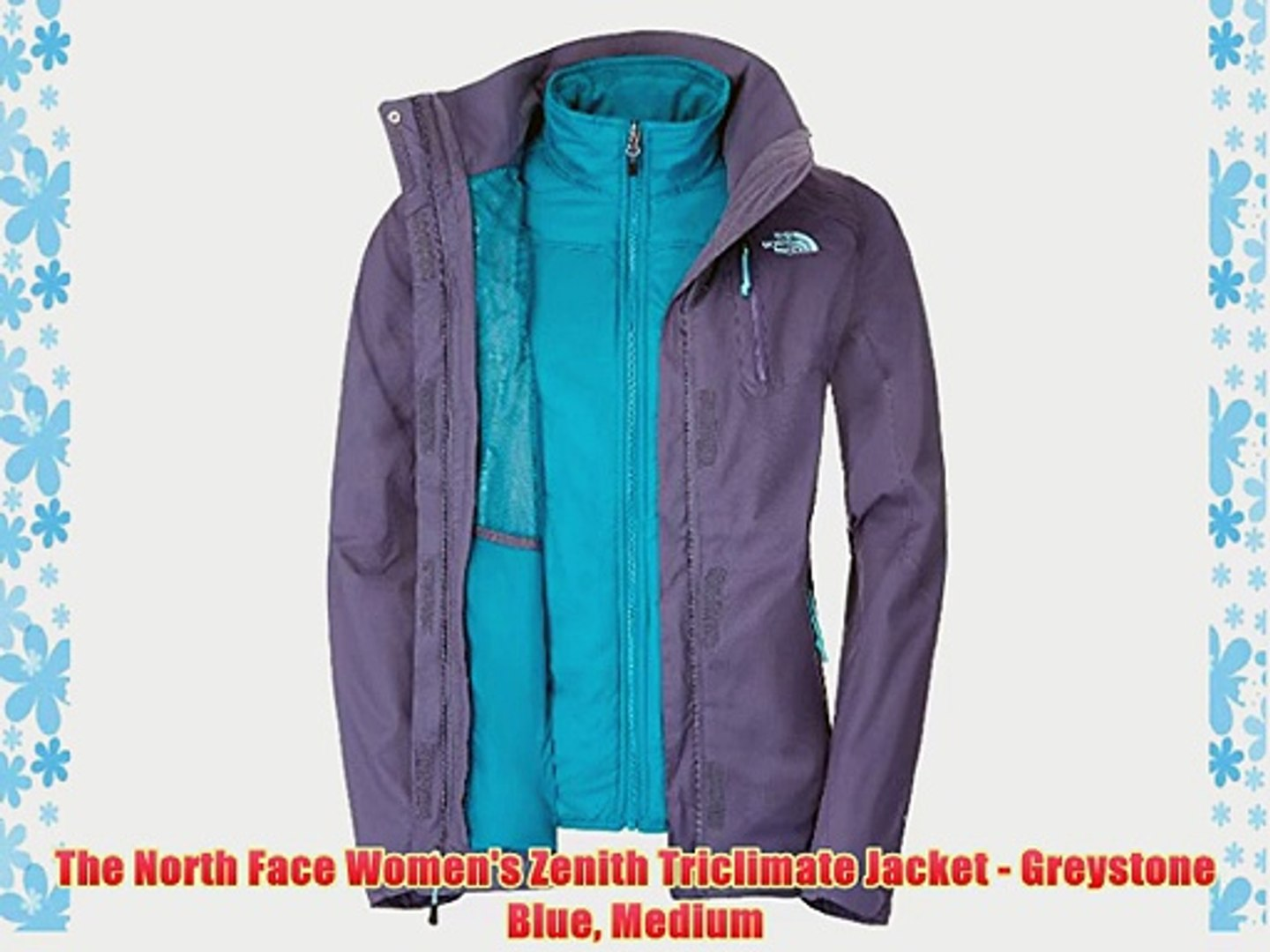 322628501 The North Face Women's Zenith Triclimate Jacket - Greystone Blue Medium