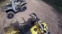 Quading at anthracite adventure trails with mud and bear sighting!!!
