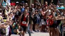 80K- Plateau 8 - Arrivée 1er Homme - Chamonix Marathon du Mont-Blanc 2015