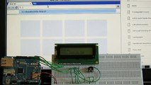 Arduino LCD Displays Text from Web Page
