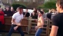 Fight Gypsy Penny Hill Site Fight 1 Bareknuckle Fight 2014 , ,  street fights
