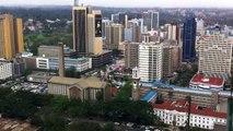360° Aerial Tour of Nairobi City Centre