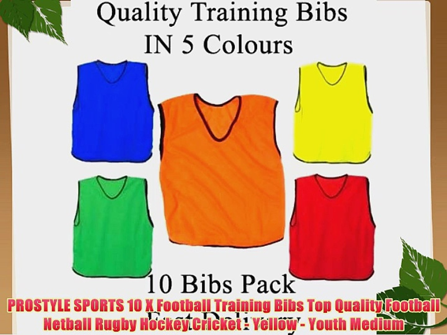 PROSTYLE SPORTS 10 X Football Training Bibs Top Quality Football Netball Rugby Hockey Cricket