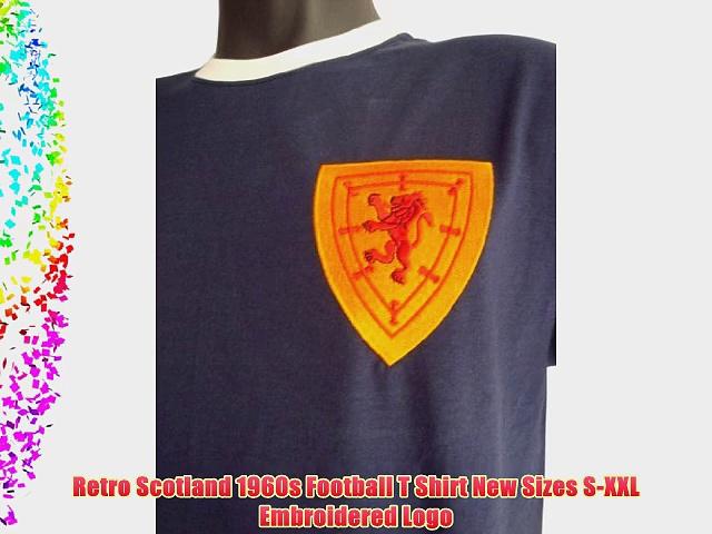 Retro Scotland 1960s Football T Shirt New Sizes S-XXL Embroidered Logo