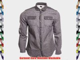 Common People Quilted Men Grey Shirts New Mens Cotton Dress Shirt - High Quality