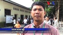 Polls Open in Cambodia, Prime Minister Hun Sen Casts Ballot ពលរដ្ឋនាំគ្នាចេញទៅបោះឆ្នោត