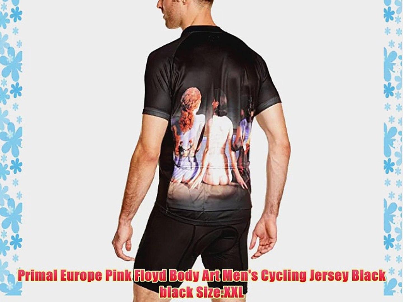 Primal Wear Mens Pink Floyd Body Art Cycling Jersey