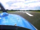Take off Drachten Airport Scheibe Falke SF25 D-KAUZ