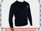 Highlander Men's Climate X Long Sleeved Tee Shirt Baselayer - Black Large