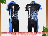 Vktech Mens Cycling Short Sleeve Jersey Shirt Shorts Bike Rider Clothing Suit (L Cheetah bucks)