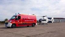 Jonction hélicoptère SAMU Lorraine et VSAV Montmédy