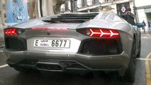 Hai siêu xe Dubai Lamborghini Aventador VS Dubai Ferrari F12