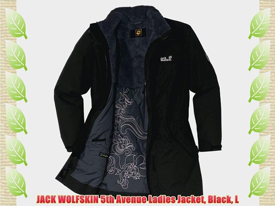JACK WOLFSKIN 5th Avenue Ladies Jacket Black L