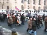 Levon Ter Petrosyan supporters marching in Yerevan