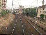 Archimede Linea Milano - Torino Tratto Novara - Vercelli dalla cabina (Video in HD)