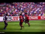 PES 2010 PS3 gameplay (replay goals Liverpool - Barcelona)