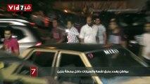 مواطن يهدد بحرق نفسه والسيارات داخل محطة بنزين