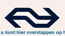 NS Omroepbericht in Sprinter naar Den Haag Centraal voor aankomst station Rotterdam Centraal