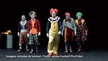 Jogadores da Juventus se vestem de palhaços para lançar novo uniforme