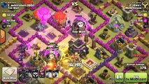CoC Clan Wars Attacking | Clash Of Clans Dragons Minions Balloons in Clash Of Clans